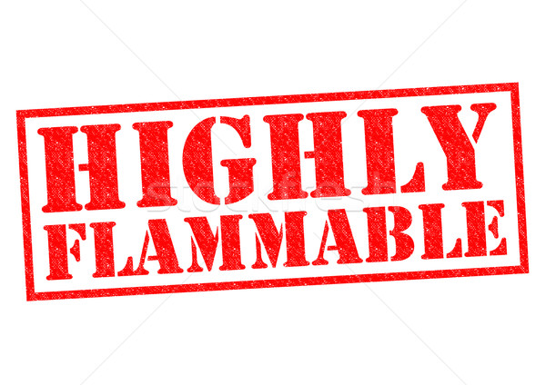 HIGHLY FLAMMABLE Stock photo © chrisdorney