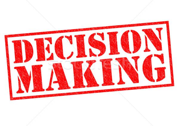 La toma de decisiones rojo blanco futuro gerente Foto stock © chrisdorney