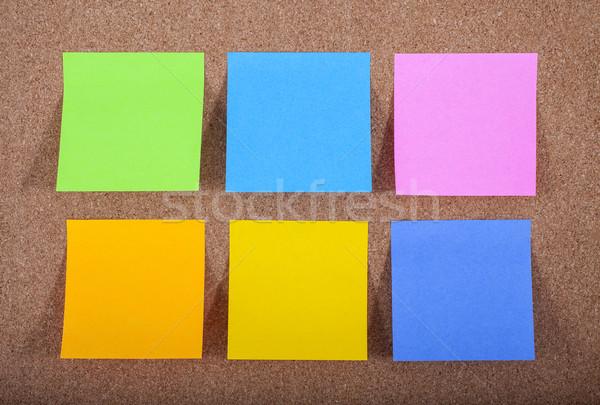 Sticky Notes on a Noticeboard Stock photo © chrisdorney