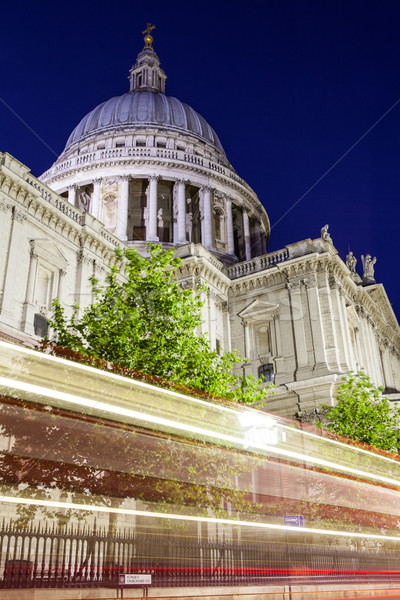 St. Pauls Cathedral at Night Stock photo © chrisdorney