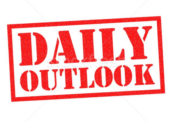 DAILY OUTLOOK Stock photo © chrisdorney