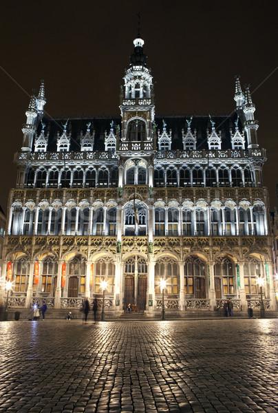 Roi ház hely Brüsszel város éjszaka Stock fotó © chrisdorney