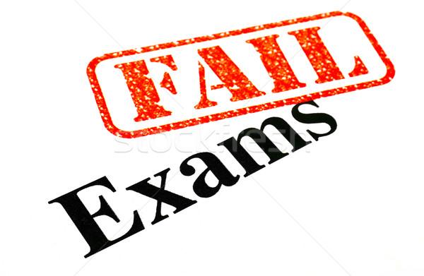 Examens is mislukt onderwijs Rood stempel college Stockfoto © chrisdorney