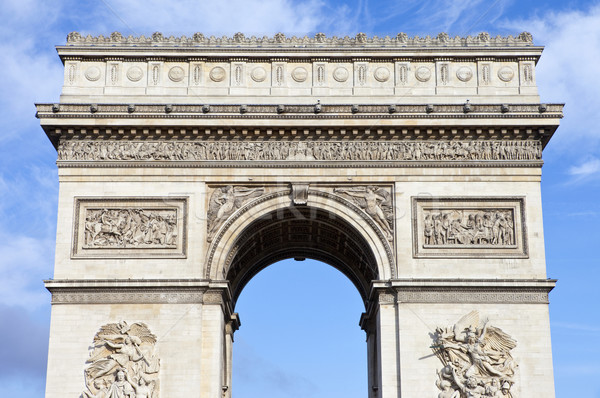 Arco do Triunfo Paris impressionante França viajar blue sky Foto stock © chrisdorney