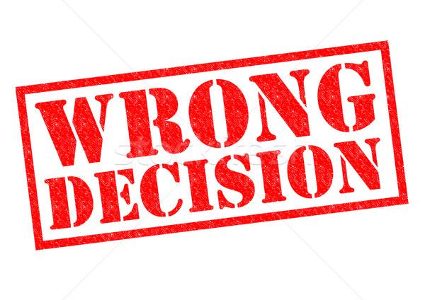 Errado decisão vermelho branco futuro Foto stock © chrisdorney