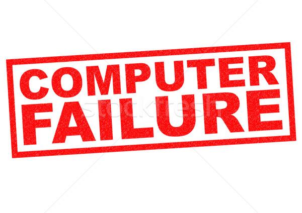 компьютер провал красный белый технологий Сток-фото © chrisdorney