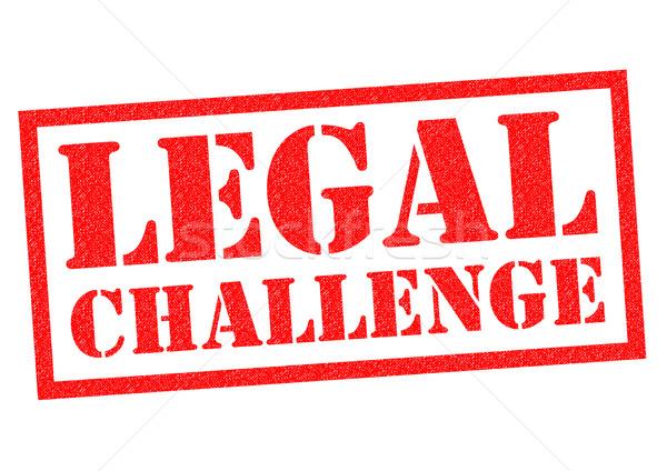 Yasal meydan okumak kırmızı beyaz hukuk Stok fotoğraf © chrisdorney
