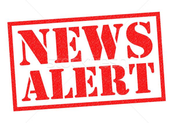News avvisare rosso bianco televisione Foto d'archivio © chrisdorney