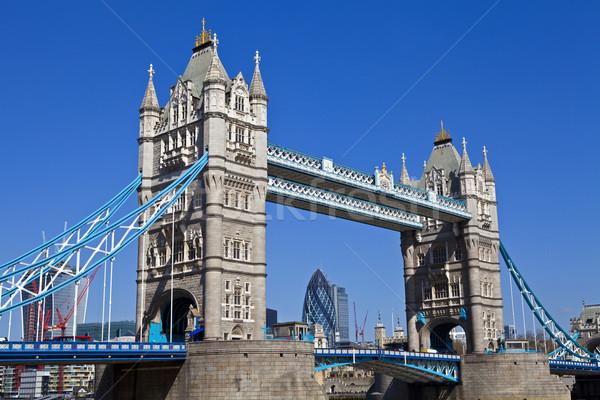 Tower Bridge Londres magnífico ciudad torre hermosa Foto stock © chrisdorney