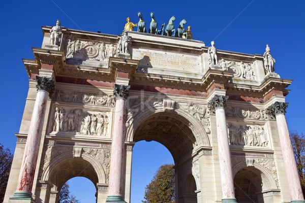 Триумфальная арка Париж впечатляющий архитектура мира военных Сток-фото © chrisdorney