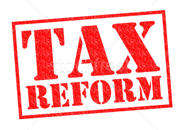Impôt réforme rouge blanche affaires Photo stock © chrisdorney
