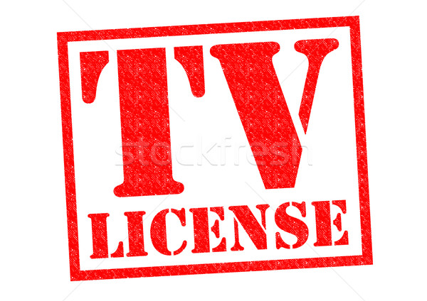 телевизор лицензия красный белый бизнеса Сток-фото © chrisdorney