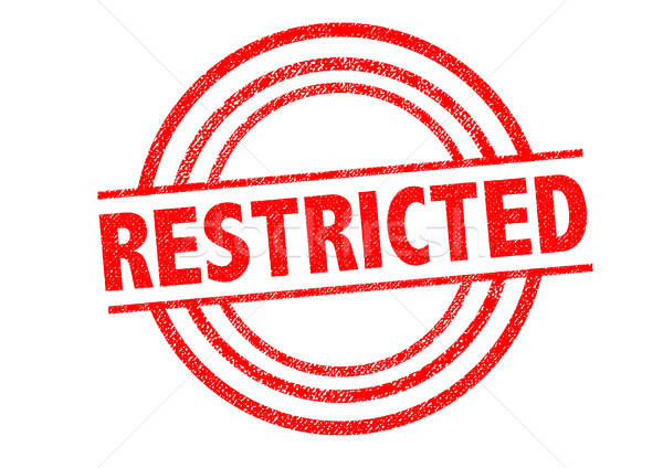 RESTRICTED Rubber Stamp Stock photo © chrisdorney