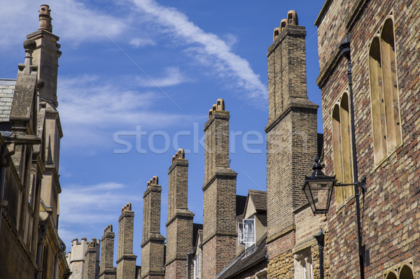 Velho tijolo cambridge rua edifício Foto stock © chrisdorney