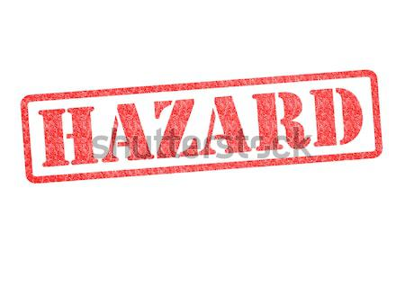 HAZARD Rubber Stamp Stock photo © chrisdorney