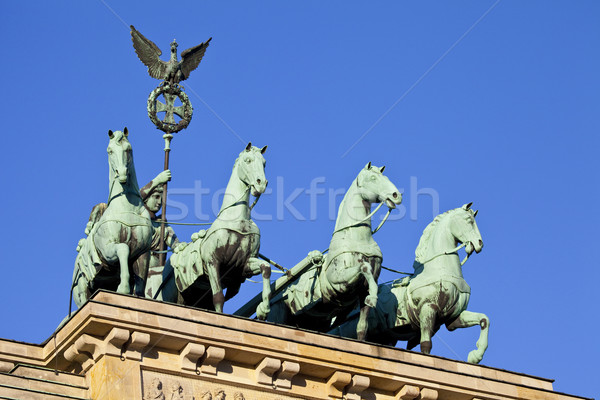 Brandenburgi kapu Berlin Németország utazás szobor kapu Stock fotó © chrisdorney