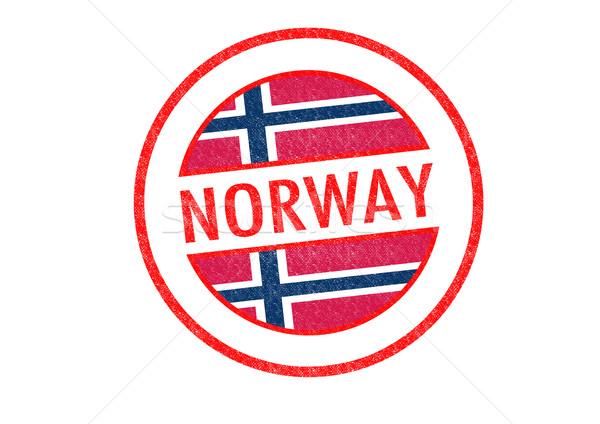Noruega blanco bandera vacaciones botón Foto stock © chrisdorney