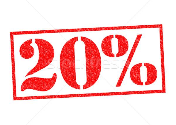 20% Rubber Stamp Stock photo © chrisdorney