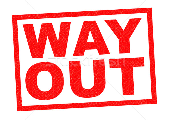 WAY OUT Stock photo © chrisdorney