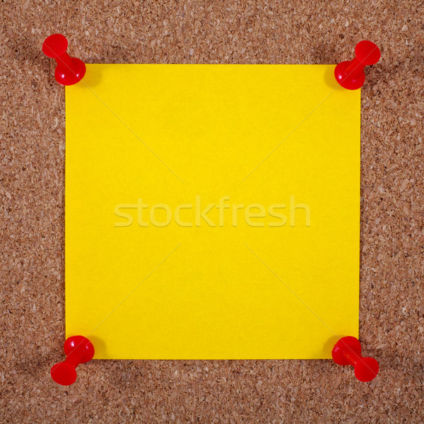 Blank Yellow Note Page Pinned to a Noticeboard Stock photo © chrisdorney