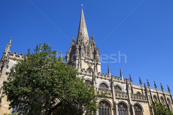 Egyetem templom szűz Oxford lenyűgöző gótikus Stock fotó © chrisdorney