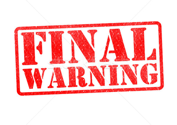 Stock photo: FINAL WARNING Rubber Stamp