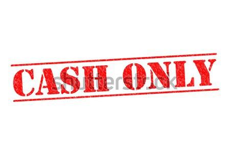Cash witte business geld teken Stockfoto © chrisdorney