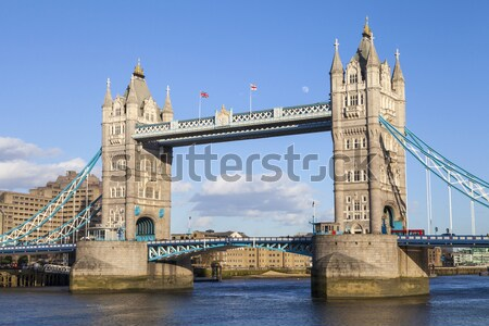 Tower Bridge Londres belo ver céu claro lata Foto stock © chrisdorney