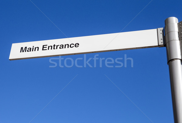 Ana giriş imzalamak yön yardım yol Stok fotoğraf © chrisdorney
