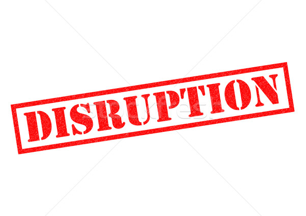 DISRUPTION Rubber Stamp Stock photo © chrisdorney