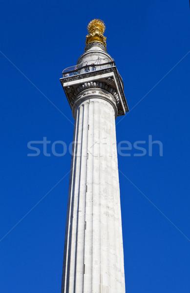 Fuego Londres ciudad estatua Inglaterra Foto stock © chrisdorney