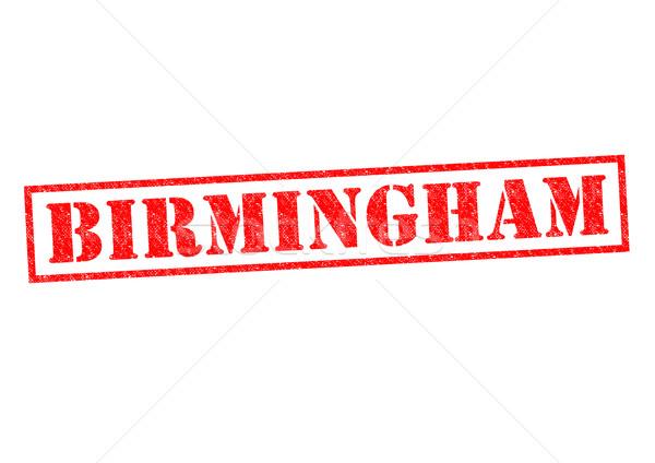 Birmingham pecsét fehér vakáció gomb kultúra Stock fotó © chrisdorney