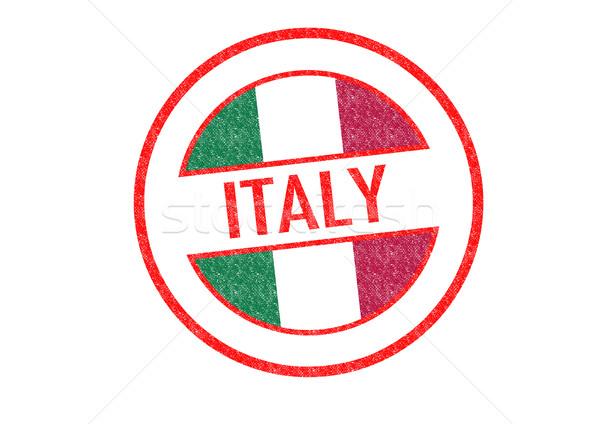 Italia blanco vacaciones botón pasaporte Foto stock © chrisdorney