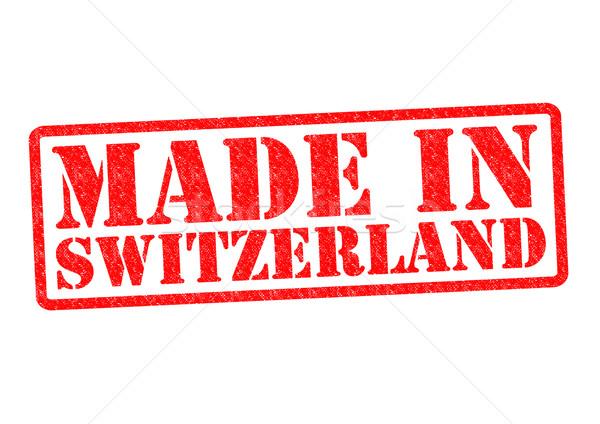 Szwajcaria biały czerwony budować gumy Zdjęcia stock © chrisdorney