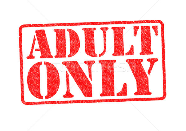 ADULT ONLY Rubber Stamp Stock photo © chrisdorney