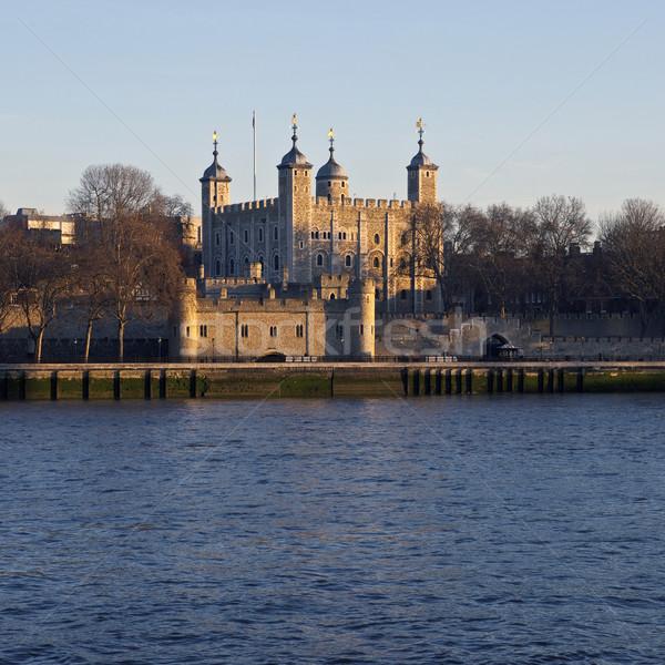 Toren Londen reizen rivier Europa geschiedenis Stockfoto © chrisdorney