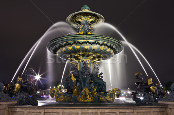Fountain at Place de la Concorde in Paris Stock photo © chrisdorney