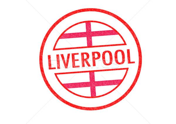 Liverpool branco vermelho passaporte inglaterra Foto stock © chrisdorney