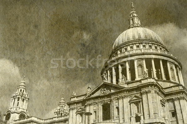 Vintage St. Paul's Cathedral in London Stock photo © chrisdorney