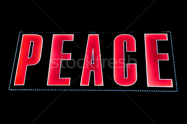 Stock photo: Peace in Lights