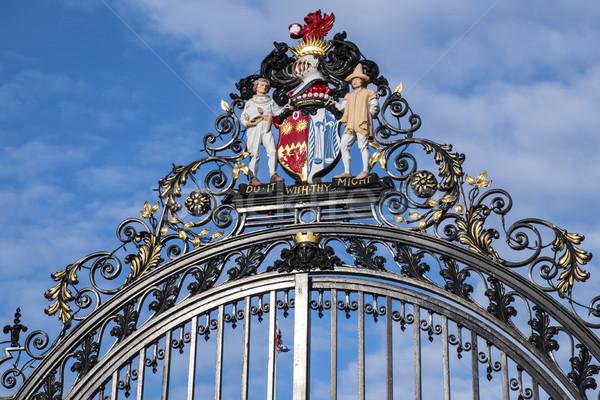 城 公園 美しい 装飾 メイン 歴史的 ストックフォト © chrisdorney