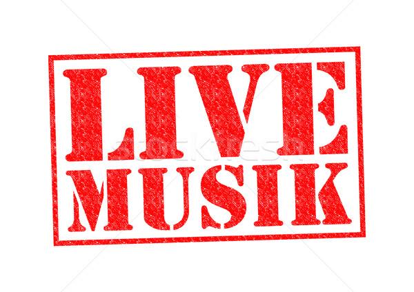 Live witte muziek achtergrond radio Stockfoto © chrisdorney