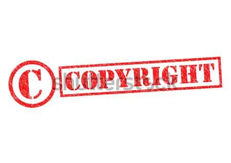 Auteursrecht witte veiligheid recht stempel Stockfoto © chrisdorney