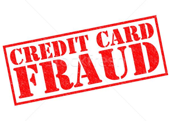 Cartão de crédito fraude vermelho branco dinheiro Foto stock © chrisdorney