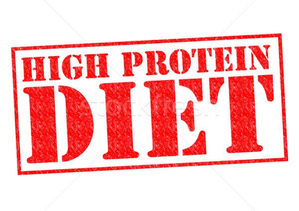 Alto proteína dieta rojo blanco Foto stock © chrisdorney