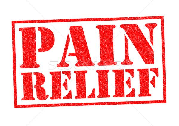 Ból ulga czerwony biały masażu Zdjęcia stock © chrisdorney