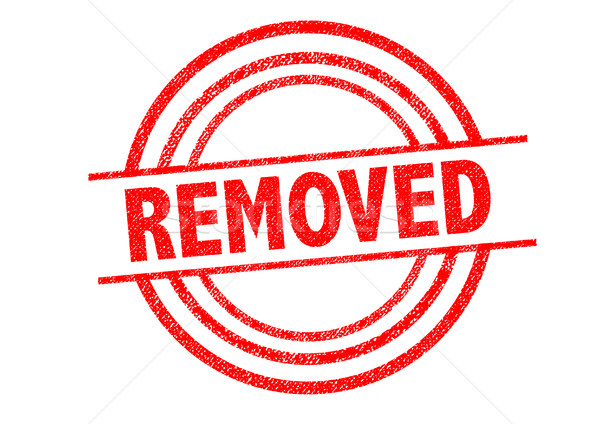 REMOVED Rubber Stamp Stock photo © chrisdorney