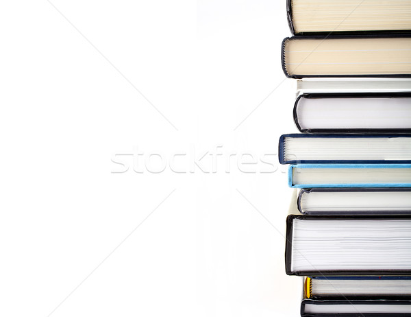 Boeken abstract shot witte school Stockfoto © chrisdorney