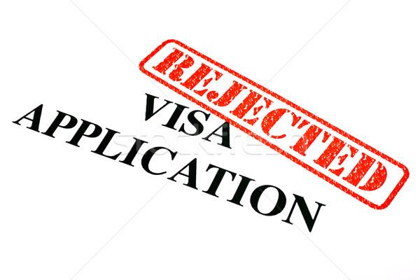Visum toepassing document papier recht Stockfoto © chrisdorney