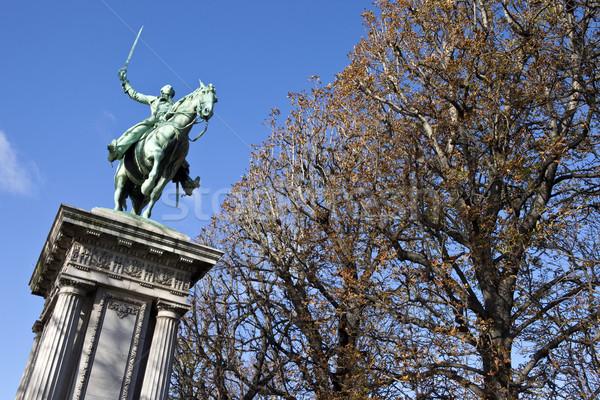 Standbeeld Parijs algemeen la stad tuin Stockfoto © chrisdorney